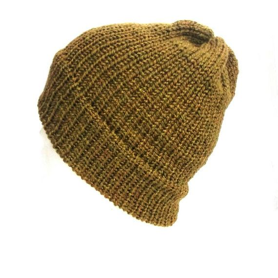 08732eecb6e Green beanie hat trawler beanie hat with brim fisherman hat ...