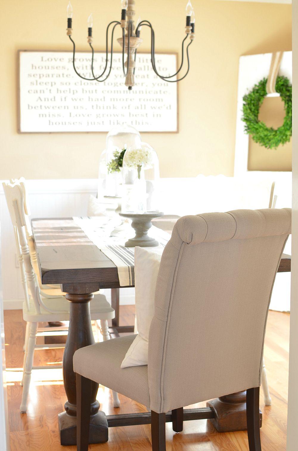 Modern Farmhouse Dining Room Makeover Rustic dining room