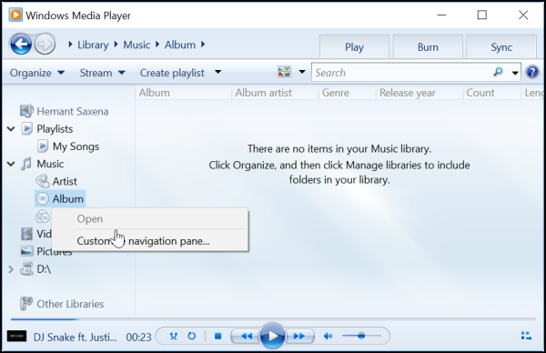 Sometimes Windows 10 Fails To Find Album Info In Windows Media Player If Find Album Info Is Not Working Windows Media Pla Album Computer Help Me Me Me Song