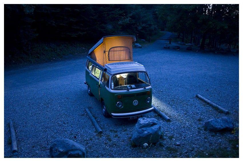 Model: VW Westfalia 1978 | South Alpes, France, 2010 | photo by Damien Guichard