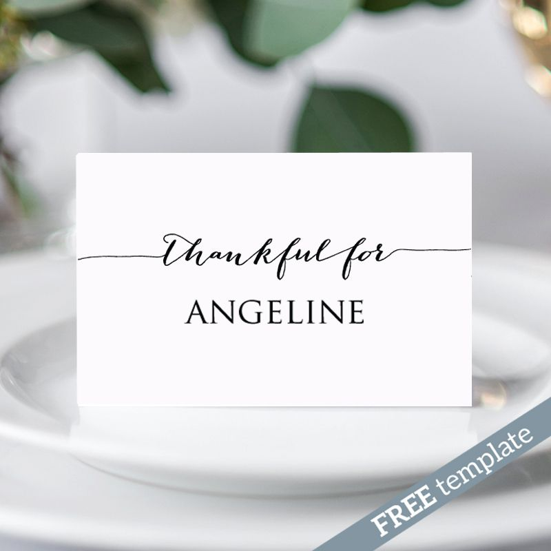 free thanksgiving place card template place card templates