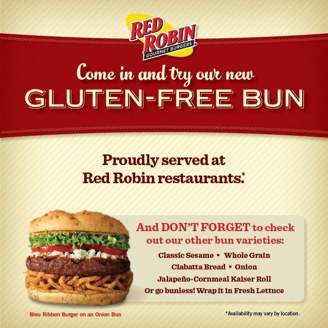 Red Robin Gluten Free Menu Gluten Free Buns Gluten Free