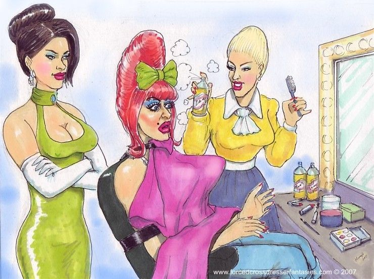 Pin By Tek42Day On Sissy Salon  Art, Trans Art, Crossdressers-8825