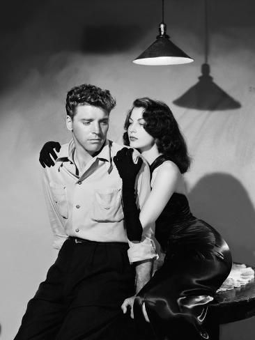 'Les tueurs The killers A Man Alone by Robert Siodmak with Burt Lancaster, Ava Gardner, 1946 (d'apre' Photo - | Art.com