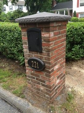 brick mailbox design ideas pictures remodel and decor - Mailbox Design Ideas