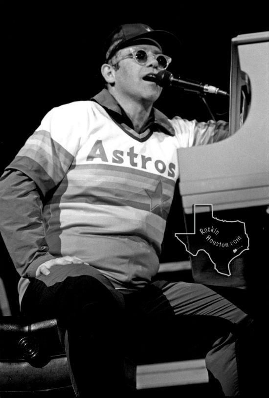 Here S Elton John In An Astros Jersey In 1986 Elton John Astros John