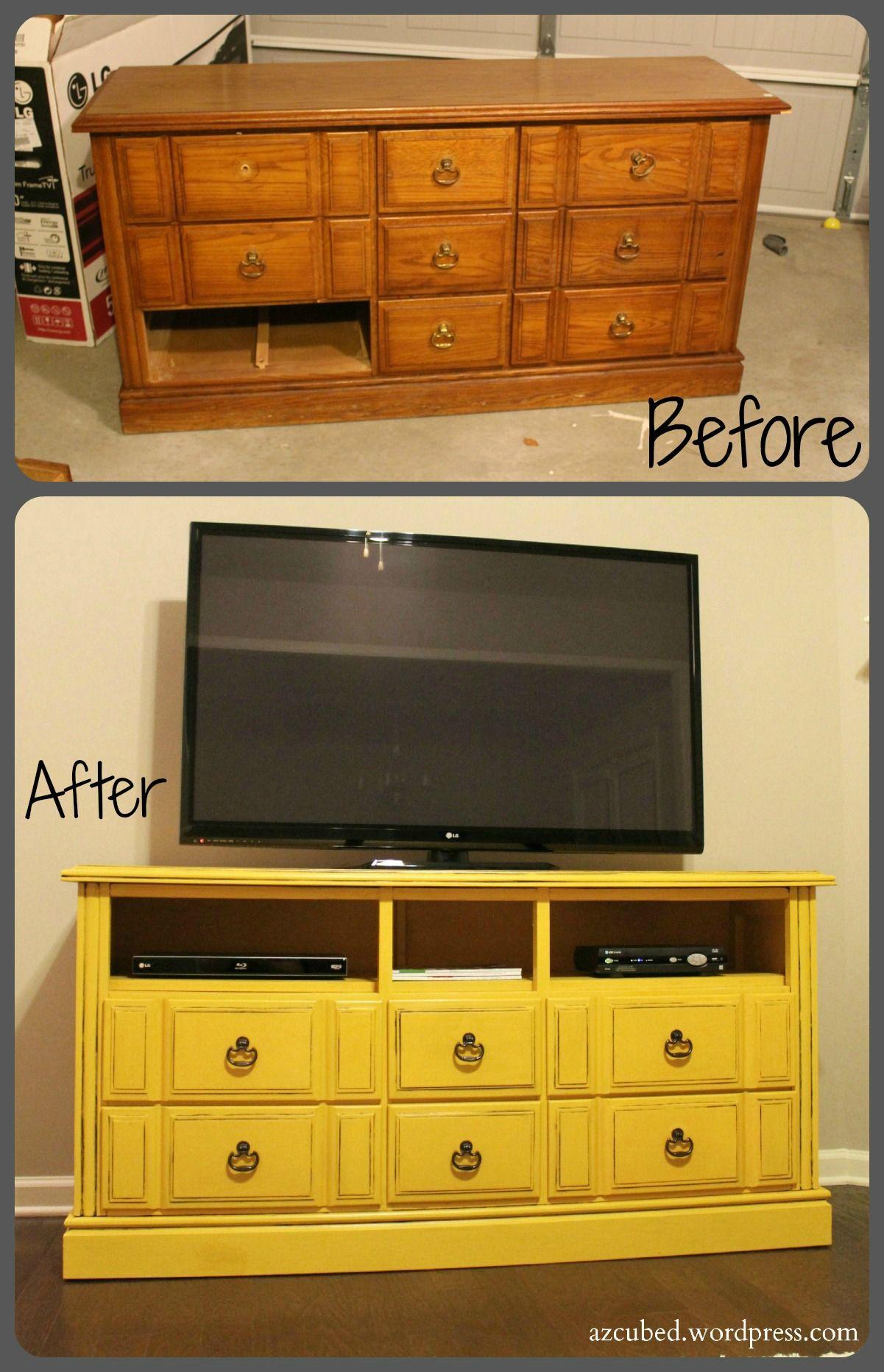DIY Dresser to TV Console