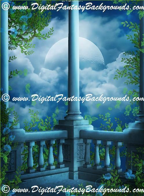 Fantasy Garden Digital Backgrounds