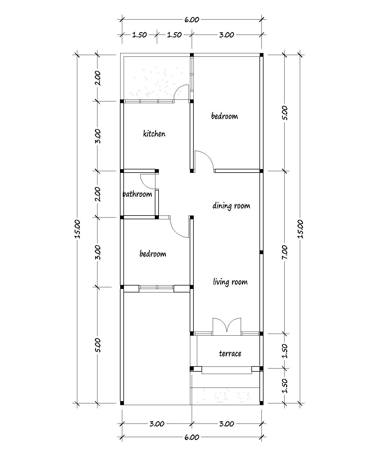 Blog About The Houses Buildings Furniture And Architecture Drawing House Plans Bungalow Style House Plans Model House Plan