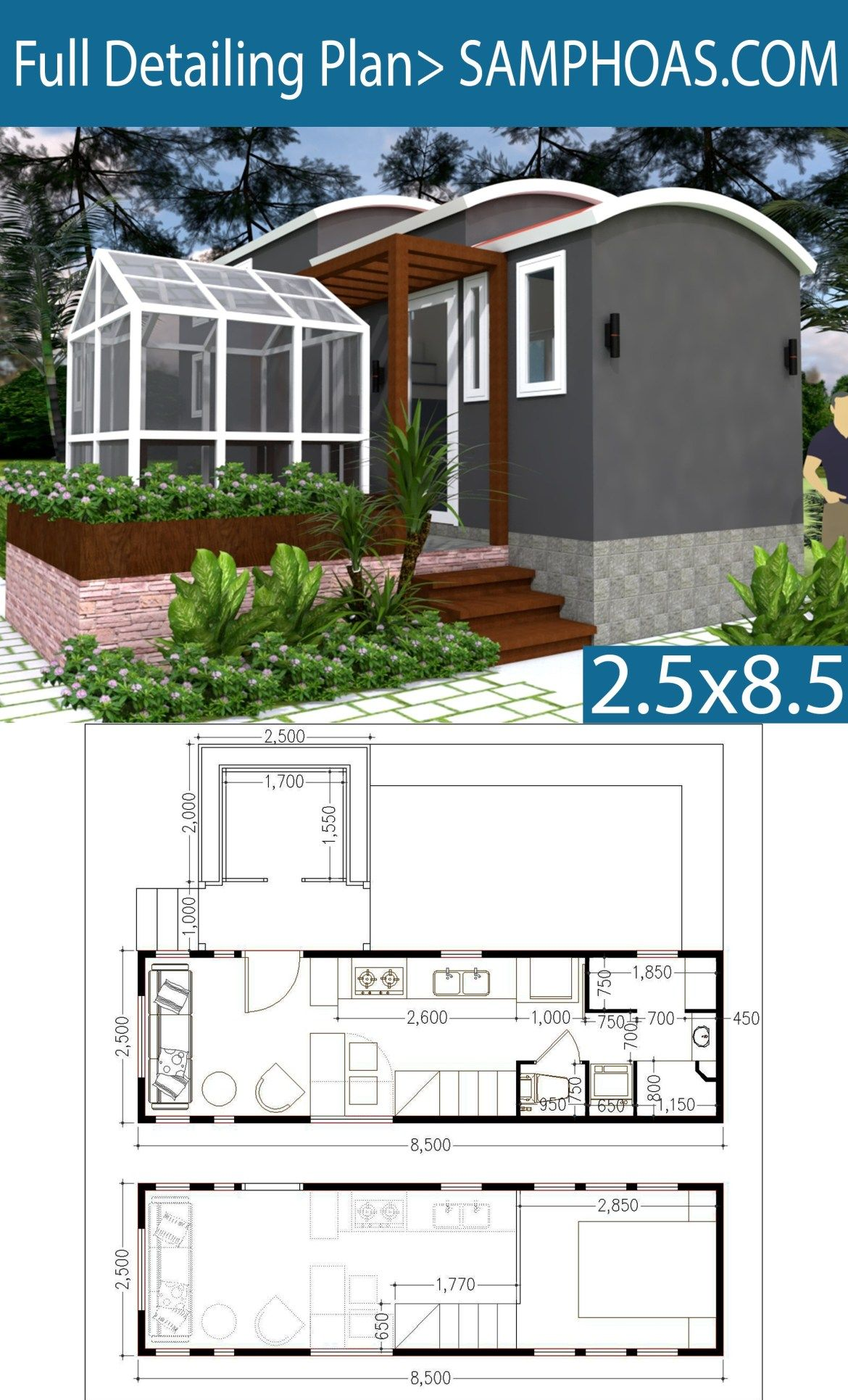 Dream Tiny House With Green House And Interior Design Samphoas Plansearch Eco House Plans Home Design Plans Greenhouse Plans