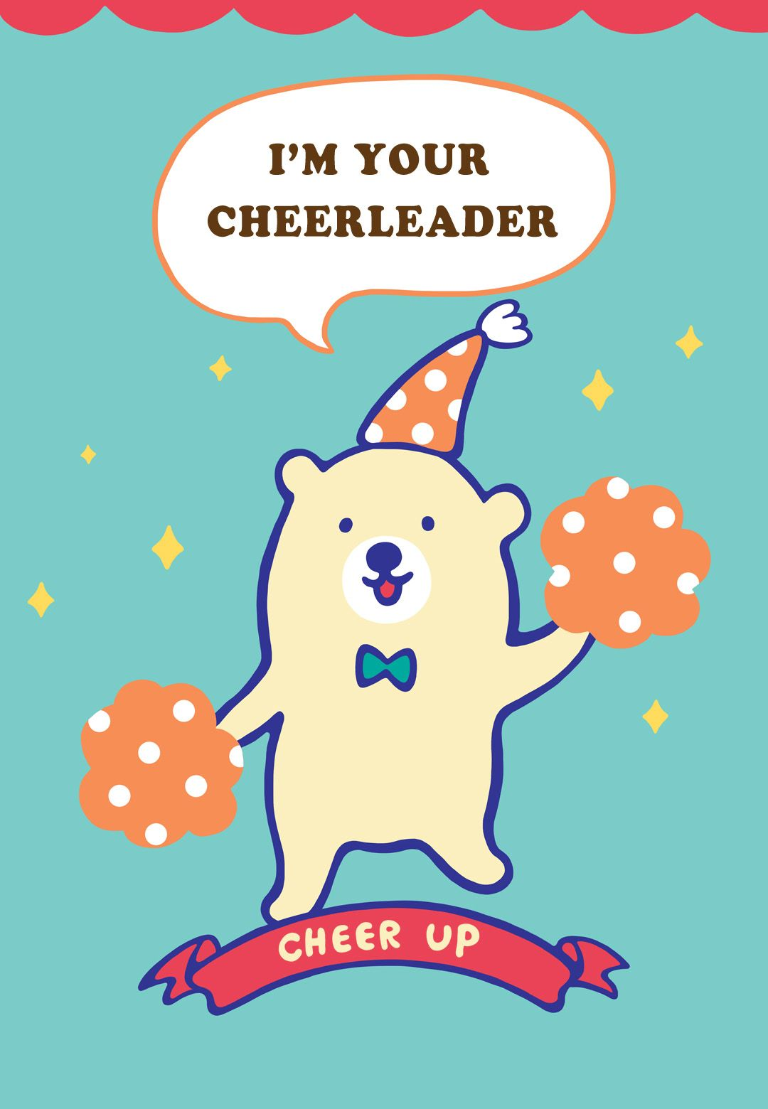 Free Printable Im Your Cheerleader Greeting Card  Free Printable Apology Cards