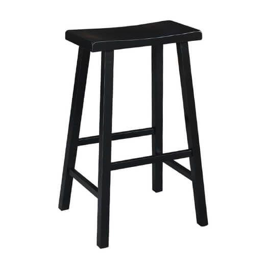 Fine Set Of Two Black 29H Saddle Bar Stools Products In 2019 Inzonedesignstudio Interior Chair Design Inzonedesignstudiocom