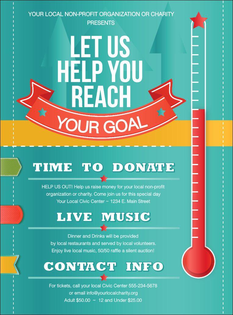 Raffle Flyer Template Free Inspirational Fundraising Thermometer Flyer Fundraiser Flyer Free Fundraisers Flyer Template Flyers for fundraisers template free