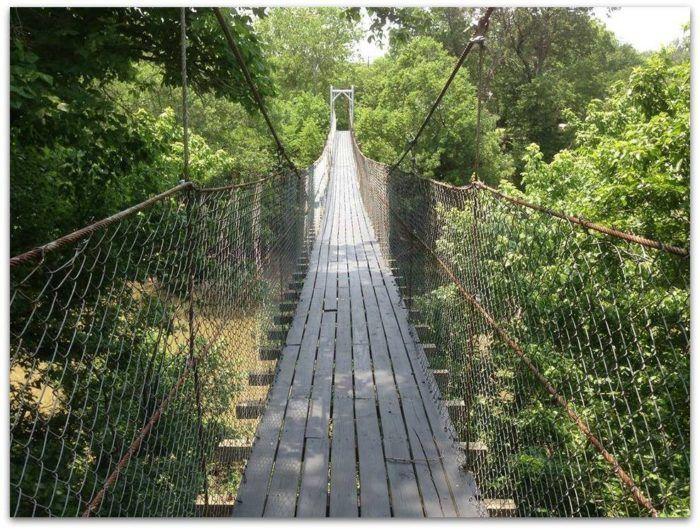 The Terrifying Swinging Bridge In Oklahoma That Will Make