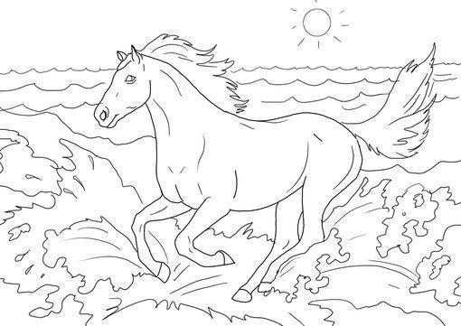 Dibujo para colorear Caballo 22 | dibujos | Pinterest | Colores ...