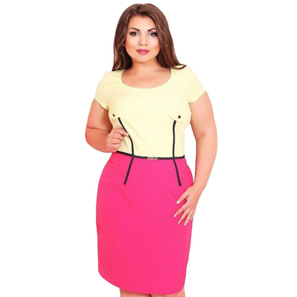 Women Plus Size Big size Large size Sexy Dress Summer O-Neck ...