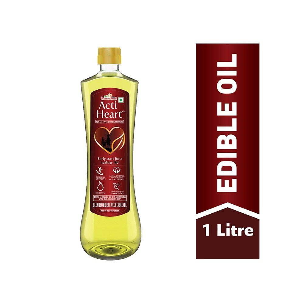 Nature Fresh Acti Heart Blended Cooking Oil Bottle 1 L Price Buy Nature Fresh Acti Heart Blended Cooking Oil Bottle Online Grofers Cooking Oil Bottle Oil Bottle Edible Oil