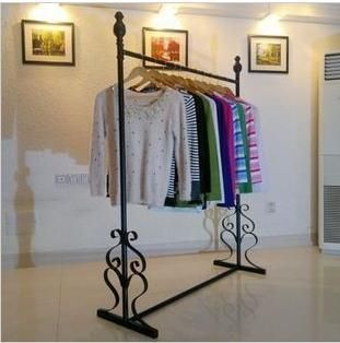 Clothing Hanger Floor Stand Wrought Iron Clothes Rack Clothing Store Display In Storage Clothing Rack Hanging Clothes Racks Furniture Makeover Thrift Store