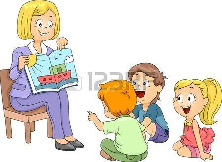 Illustration De Kids Ecouter Une Histoire Preschool Clipart Kindergarten Teachers Cartoon Kids