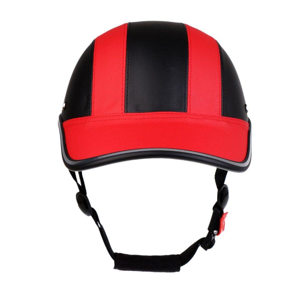 Motorcycle Cycling Half Open Face Helmet Baseball Cap Foam Padded Pu Hat Visor Intelligent Bicycle Helmet For Bike Scooter Motorcycle Cyc Open Face Helmets Helmet Bicycle