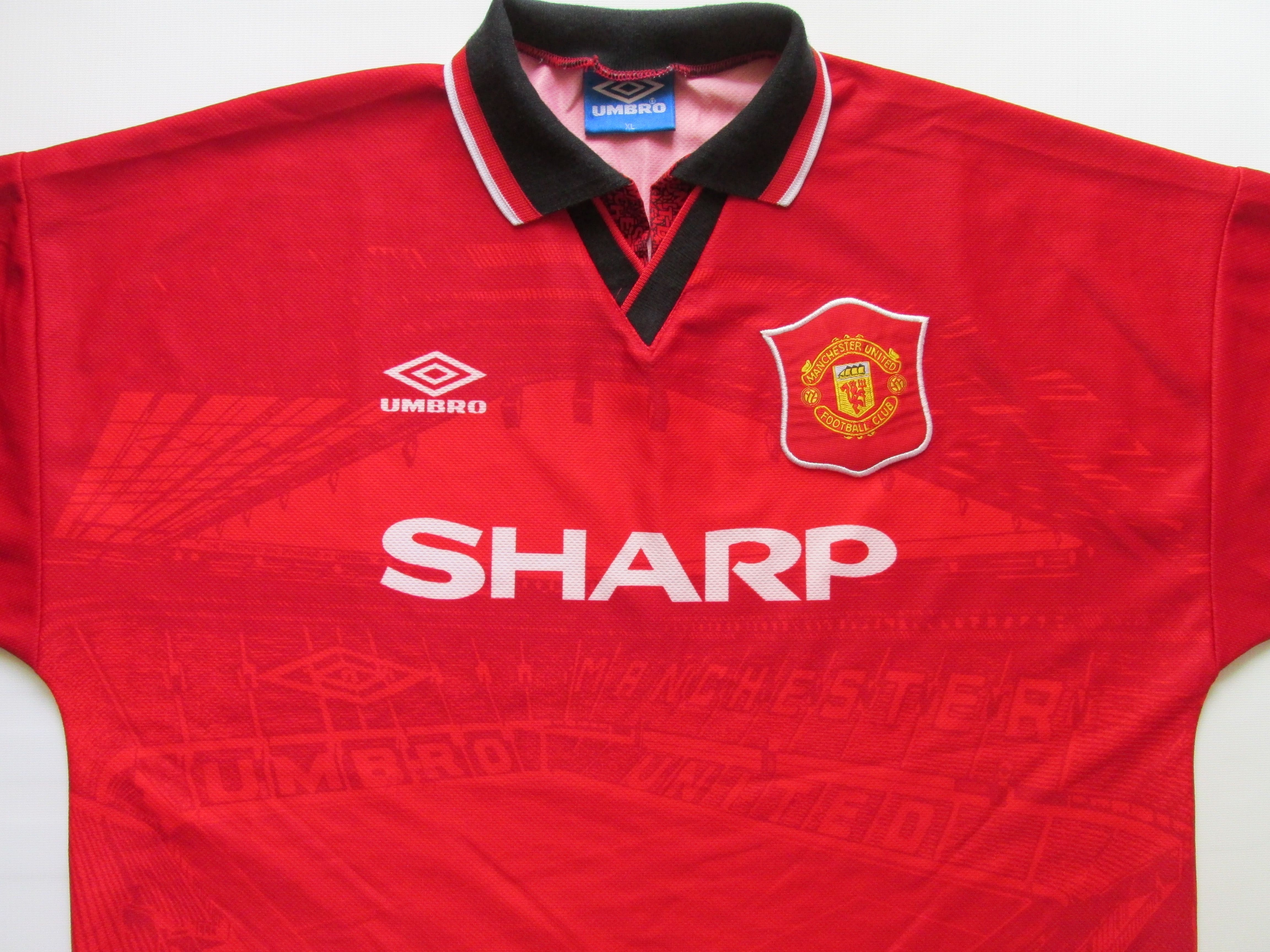 97652525e87 Manchester United 1994 1995 home football shirt by Umbro OldTrafford Sharp  90s retro vintage jersey soccer PremierLeague MUFC  ManchesterUnited   ManUtd ...