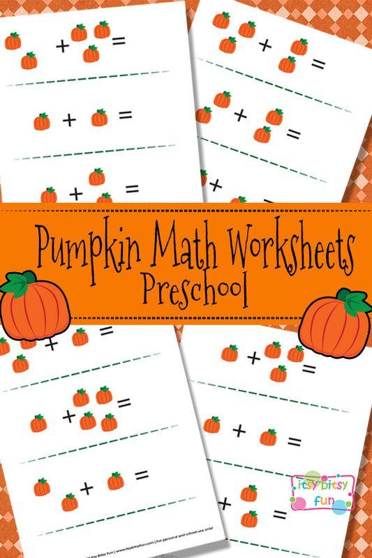 Pumpkin Math Worksheets For Preschool Trick Or Treat