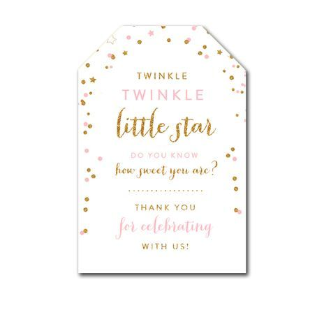 Tutu Excited Thank You Tag Template Printable Baby Shower Thank