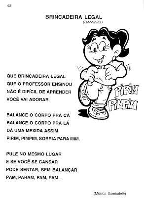 Esquema Corporal Musica Na Educacao Infantil Educacao Infantil