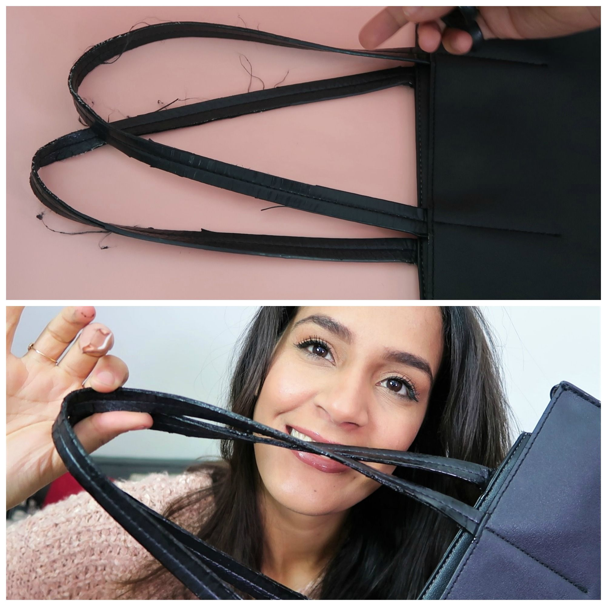 Diy how to repair frayed purse straps in 2020 purse