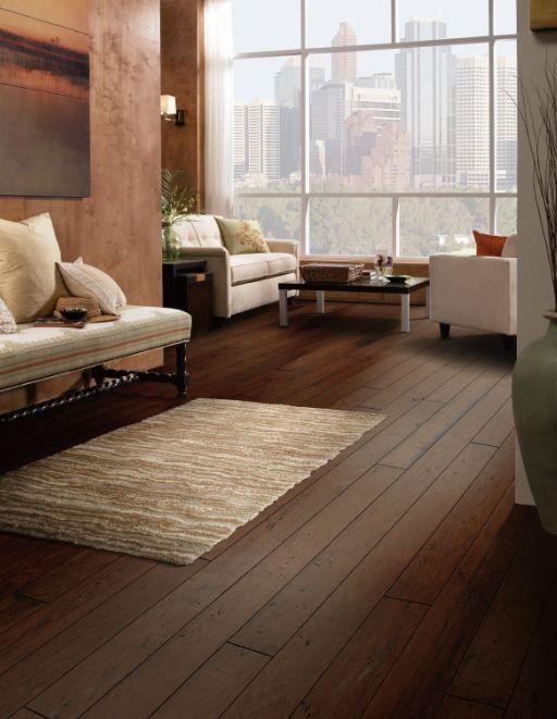 Melrose Hickory 3 4 Thick X 5 Wide X 73 Length Engineered Hardwood Flooring Hardwood Floors Interior Design Living Room Windows
