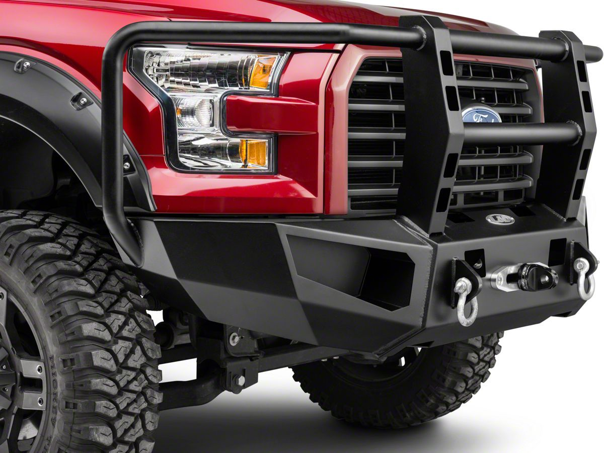 Heavy Duty Full Guard Winch Front Bumper 15 17 F 150 Excluding