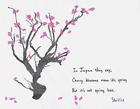 Nature Haiku Haiku Pinterest Cherry Blossoms Blossoms And Japanese Haiku Cherry Blossom Painting Haiku