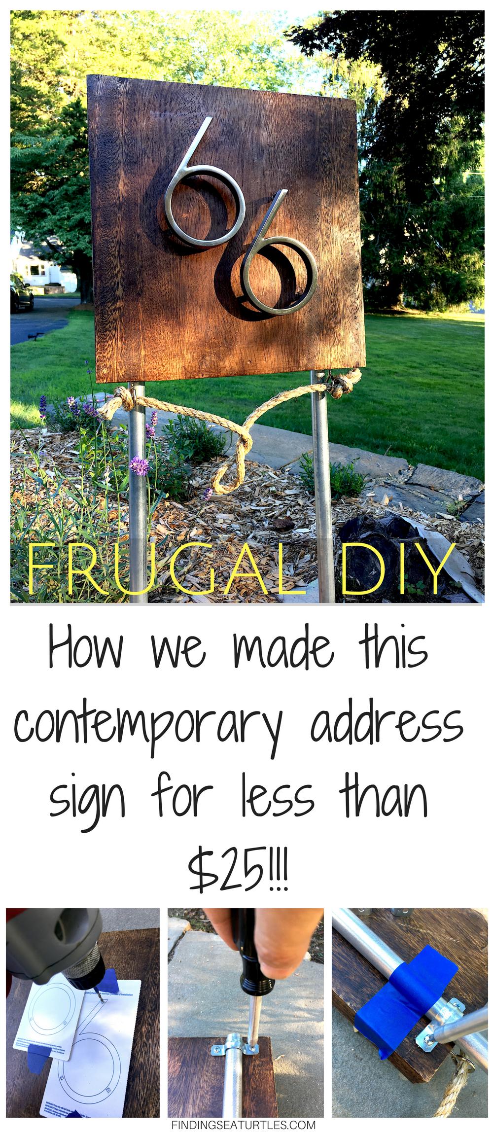 Coastal DIY MidCentury Modern Address Sign Address