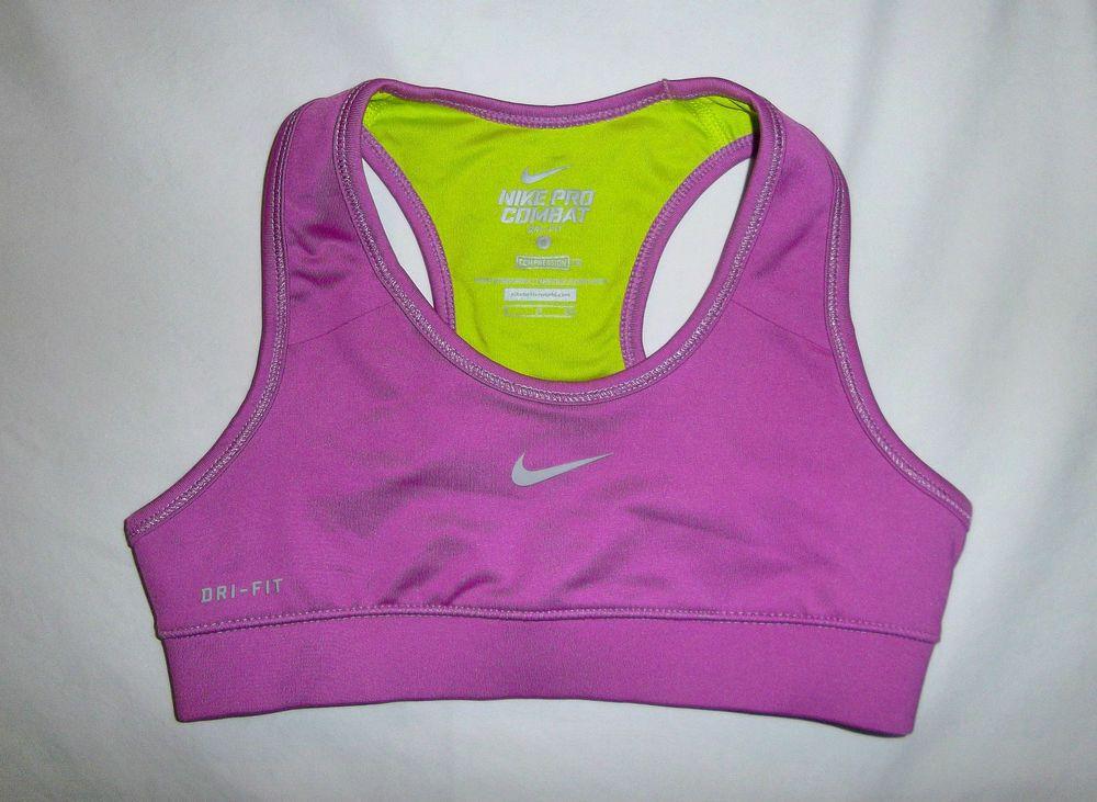 NEW Girls Nike Pro Combat DriFit Compression Sports Bra