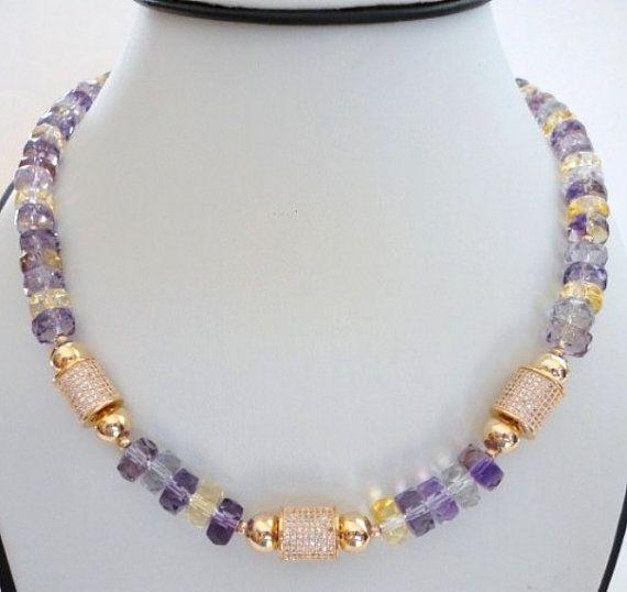 Fine Jewelry Purple Amethyst Statement Necklace twM0B
