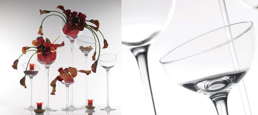 Glass vases, accent decor