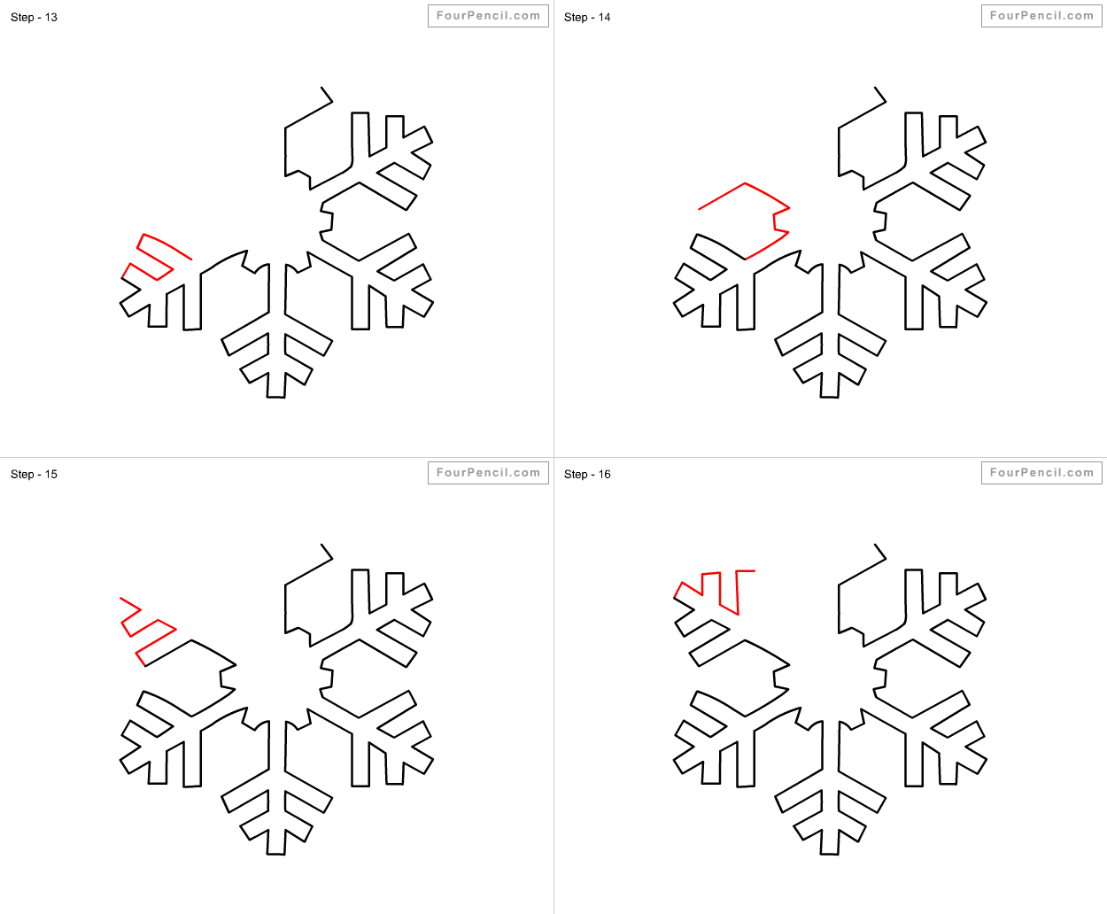 How to draw snow 4