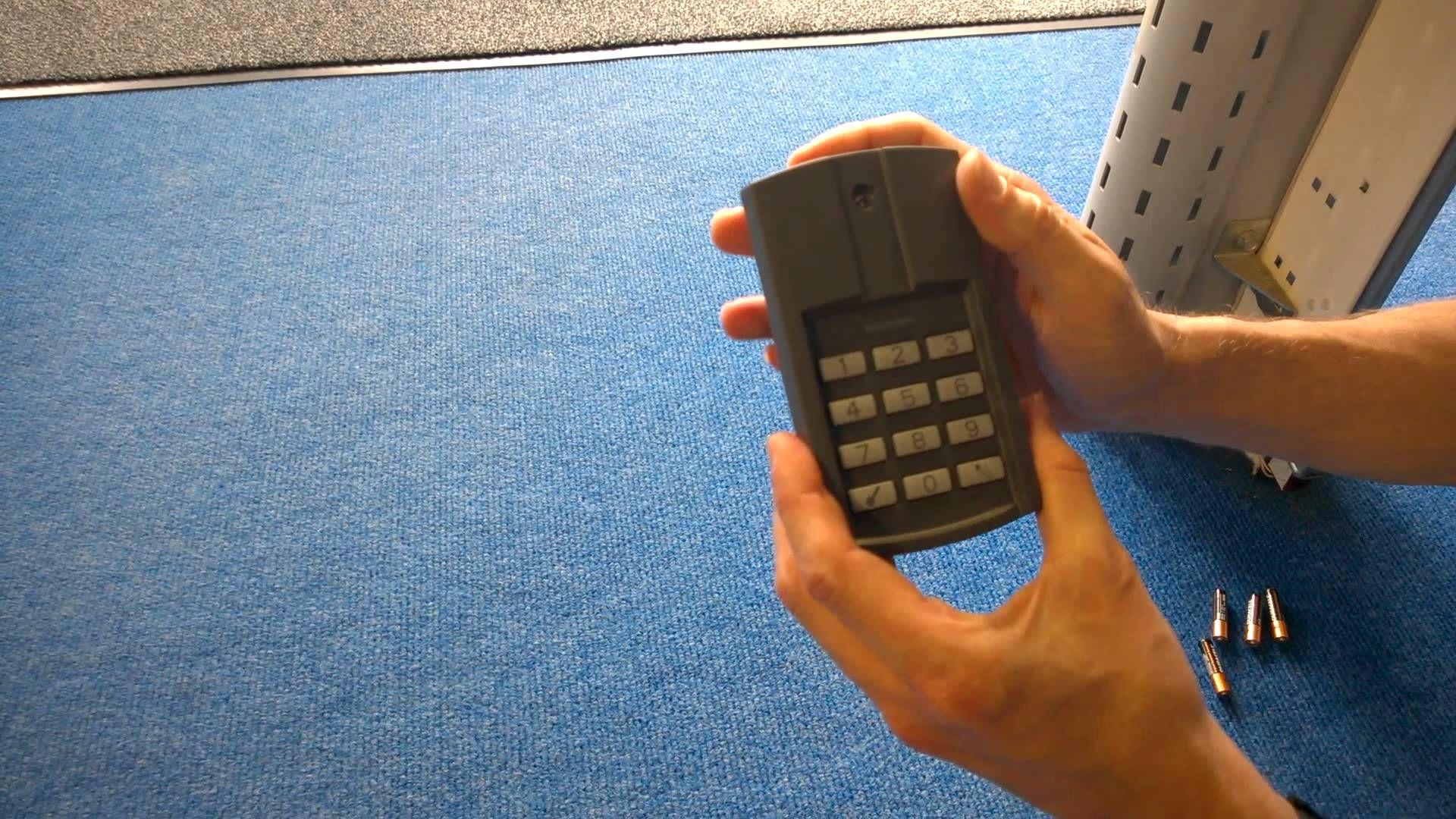 Resetting The Hormann Fct3bs Wireless Keypad Hormann Garage Doors Office Phone Garage Doors