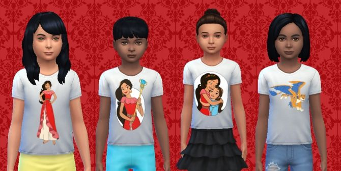 Elena of Avalor Shirt kids by Alfredlovessims at SimsWorkshop via Sims 4 Updates