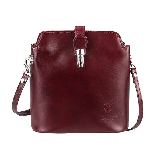 Photo of OBC Made in Italy Damen Leder Tasche Umhängetasche Schultertasche Sub34.Bordo