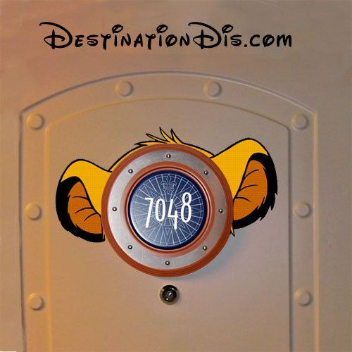 Baby Simba style Disney Cruise door magnet ears inspired by The Lion King