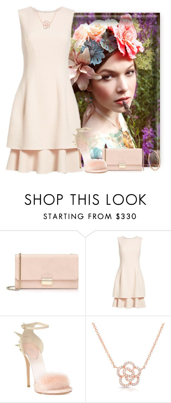"""Summer"" by easy-dressing ❤ liked on Polyvore featuring Furla, Oscar de la Renta, Giuseppe Zanotti, Anne Sisteron, Michael Kors, peach and WhatToWear"