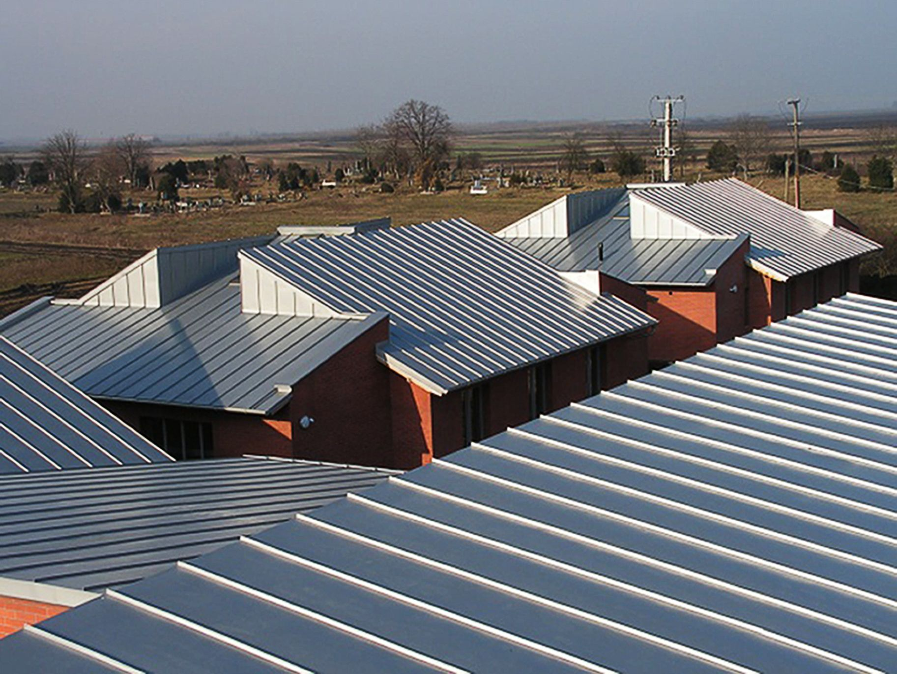 Zinc Double Locked Standing Seam Panels For Roof And Wall Zinc Roof Roof Cost Metal Roof