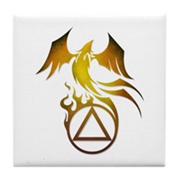 Aa Logo Phoenix Tile Coaster Tattoos Pinterest Tattoos