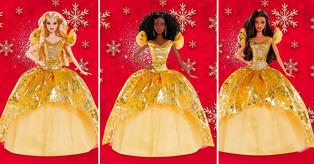Golden Dress for Barbie Holiday 2020 Dolls in 2020
