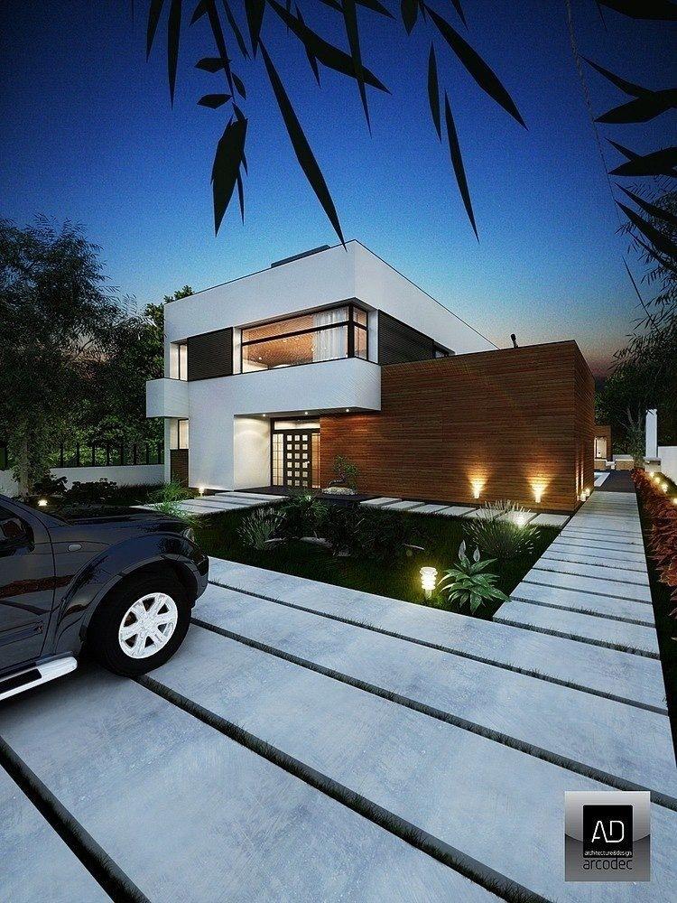 Outdoor Lighting Ideas Front Yards Modern