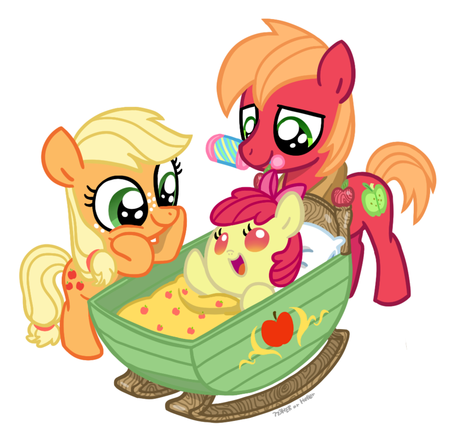 *GOING ON THE DEAD PARENT THING* Applejack and Big Mac were just as much parents as they are siblings to Applebloom.