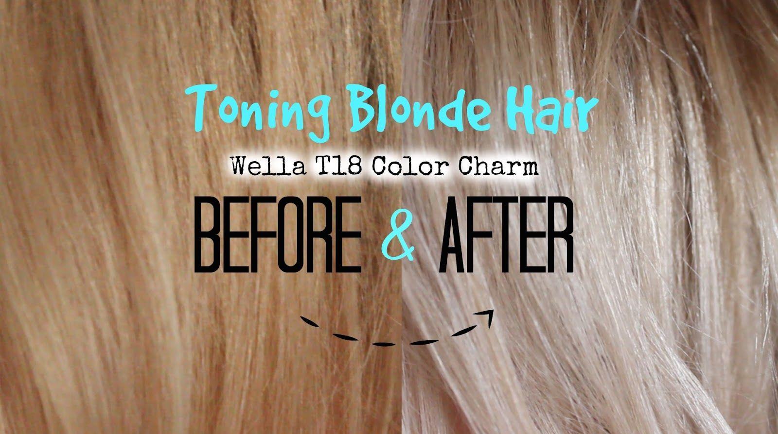 Toning Blonde Hair To Lightest Ash Blonde Wella T18 Colour Charm Toning Blonde Hair Ash Hair Color Light Ash Blonde