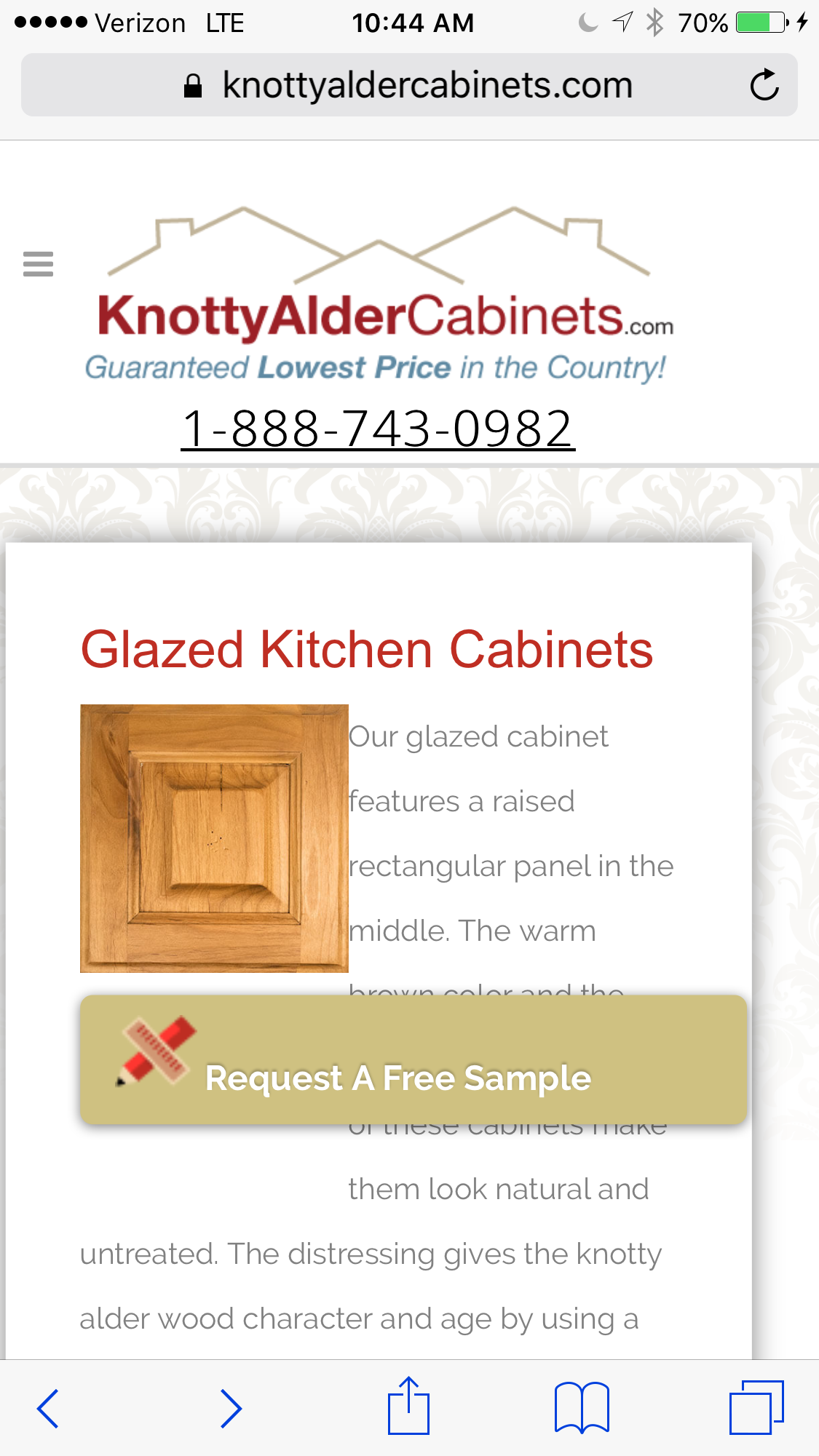 Beau Knotty Alder Cabinets For The Kitchen