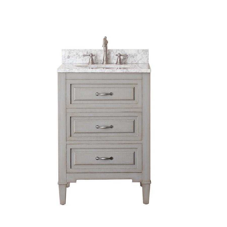 Avanity Kelly Grayish Blue Undermount Single Sink Bathroom ...